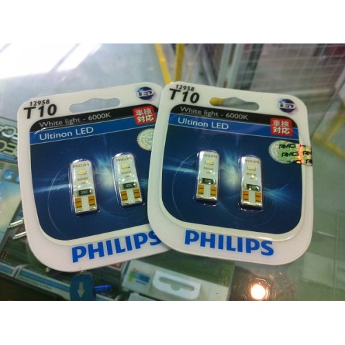philips t10 6000k ultinon led. Black Bedroom Furniture Sets. Home Design Ideas