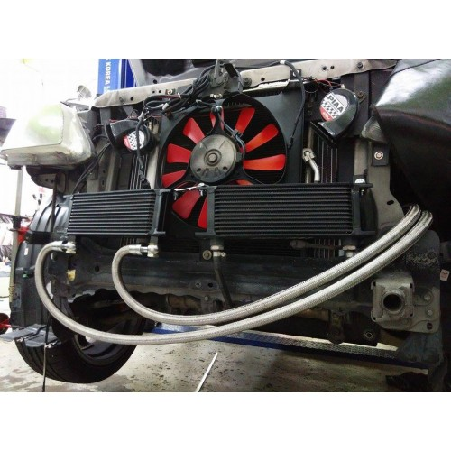 Engine Oil Cooler : Works engineering engine oil cooler kit