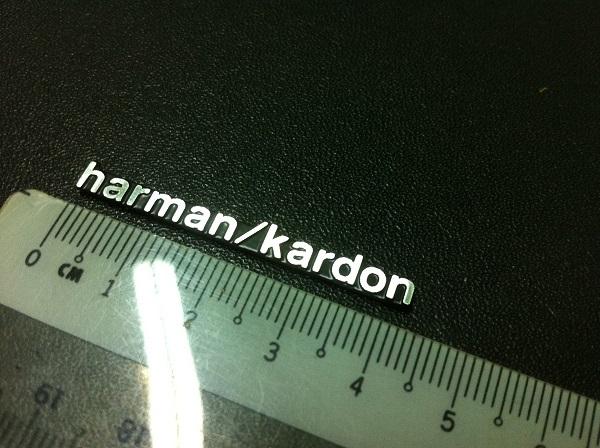 Harman / Kardon Speaker Badge Emblem Logo Aluminium Made
